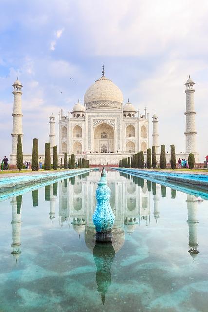 Taj Mahal, Building, Architecture, Mausoleum, Water