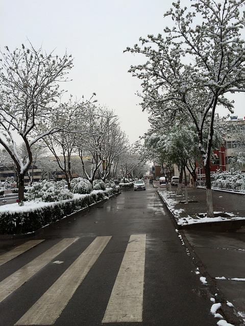 May, Snow, Ningxia Hui Autonomous Region