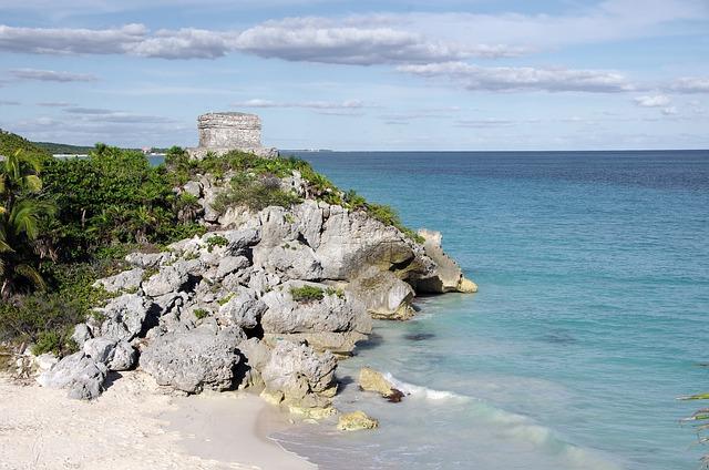 Mexico, Tulum, Maya, Maya City, Ruins, Temple