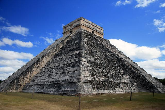 Pyramid, Maya, Ancient, Mexico, Temple, Stone, Yucatan