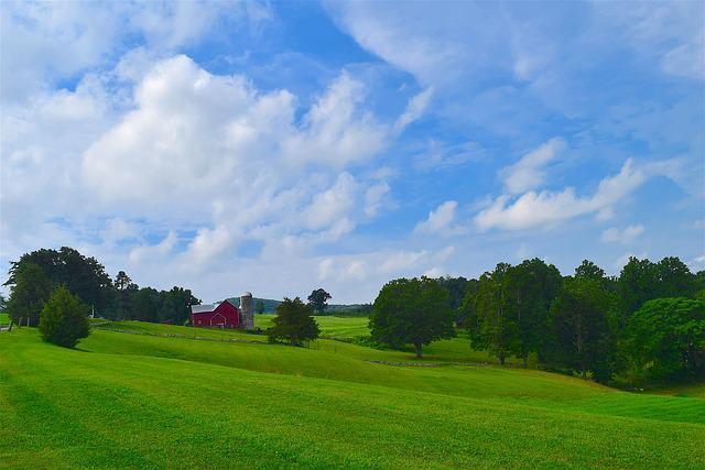 Landscape, Rural, Barn, Silo, Grass, Pasture, Meadow