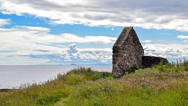 Scotland, St Andrews, Sea, East Coast, Coast, Meadow