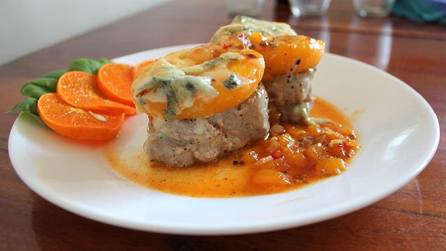 Food, Dinner, Meal, Plate, Gourmet, Pork Medallions