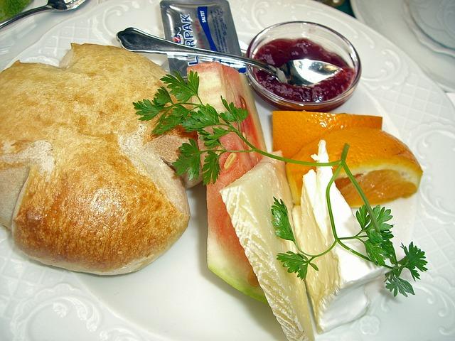 Breakfast, Roll, Bread, Lunch, Meal, Jam