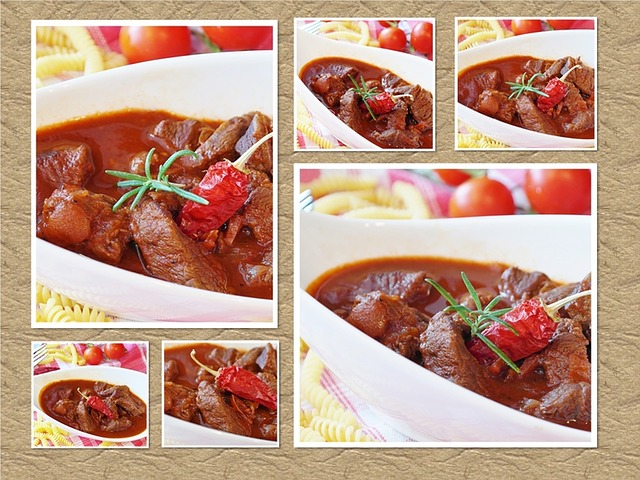 Goulash, Collage, Meat, Beef, Court, Main Course, Cook
