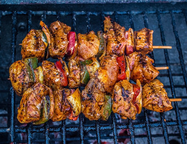 Barbecue, Meat, Grill, Grilled Meats, Fire, Meat Skewer