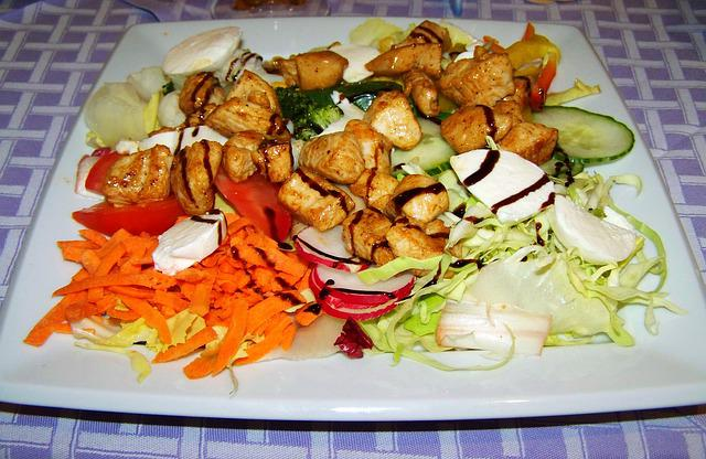 Meat Salad, Food, Mixed Vegetables