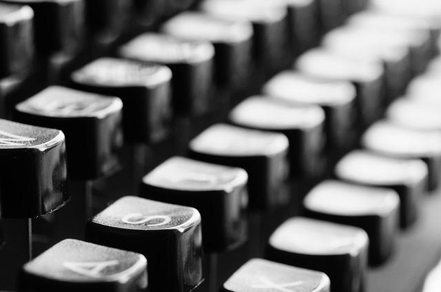 Typewriter, Keys, Mechanically, Letters, Office