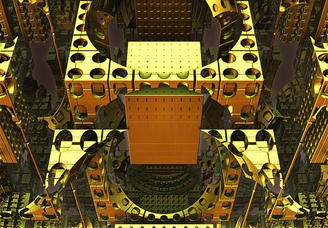 Fractal, 3d, Mechanism, Golden