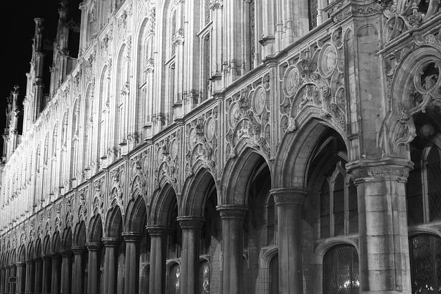 Gothic, Building, Mechelen, Town Hall, Facade