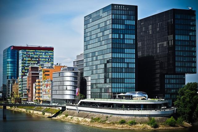 Architecture, Media Harbour, Düsseldorf, Building, Port