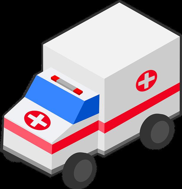 Ambulance, Car, Isometric, Medical, Vehicle