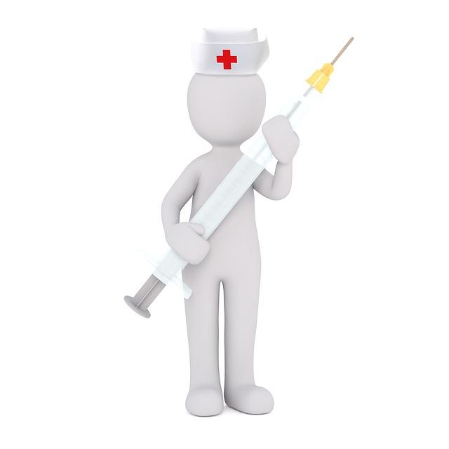 Medical Sister, Syringe, White Male, 3d Model, Isolated