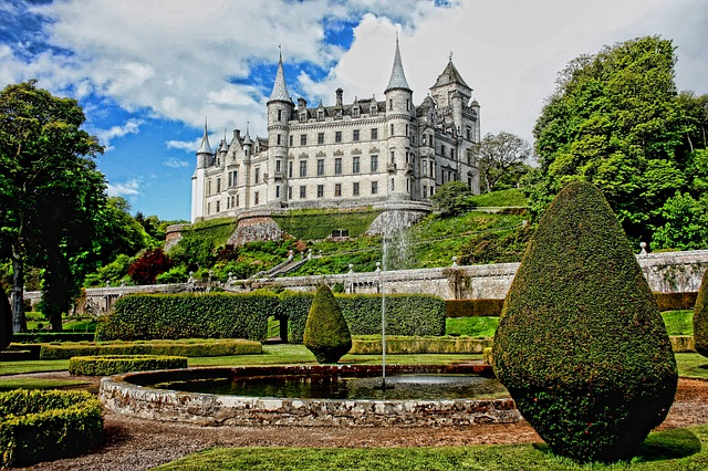 Dunrobin, Castle, Architecture, Medieval, Old, Building