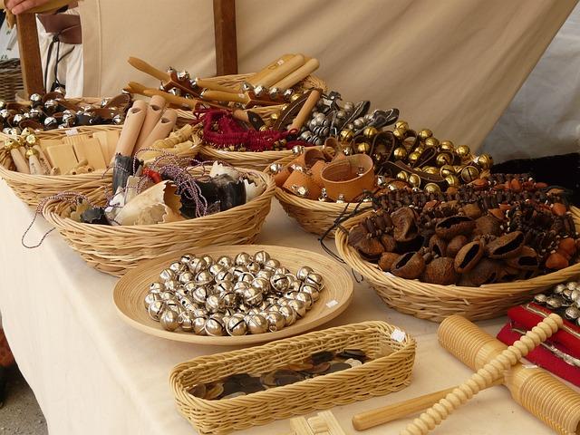 Clamp, Bell, Middle Ages, Medieval Market, Basket