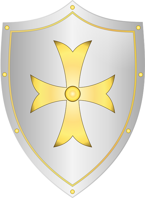 Shield, Medieval, Knight, Cross, Battle, Weapon
