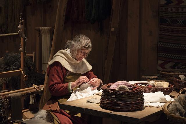 Viking, Norway, Medieval, Sewing
