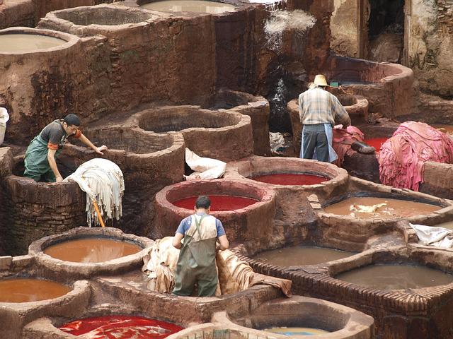 Tannery, Leather, Tanning, Labor, Workers, Fez, Medina