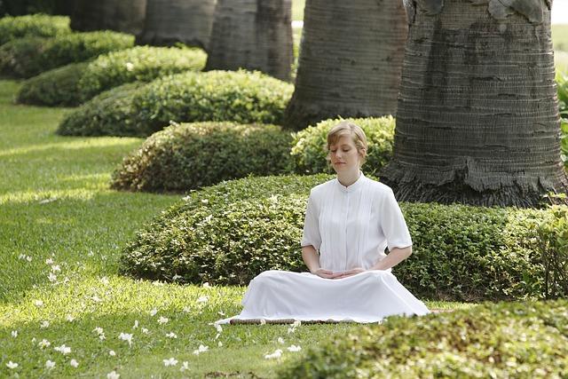 Buddhist, Meditation, Woman, Girl, Wat, Meditate