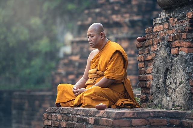 Buddhist, Monk, Sitting, Meditation, Zen, Meditate
