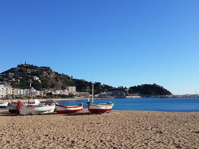 Costa Brava, Barca, Beach, Mediterranean, Girona