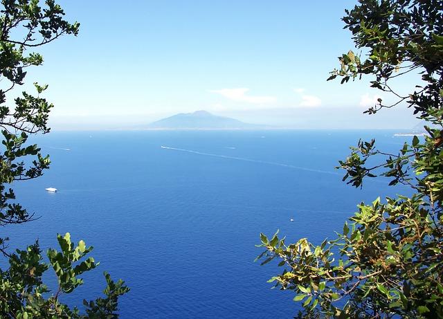 Italy, Capri, Mediterranean, Vesuvius, Volcano