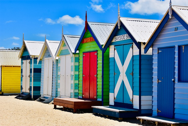 Melbourne, Brighton, Beach, Australia, Victoria