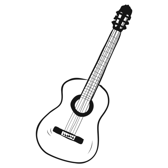 Guitar, Drawing, Music, Play, Melody
