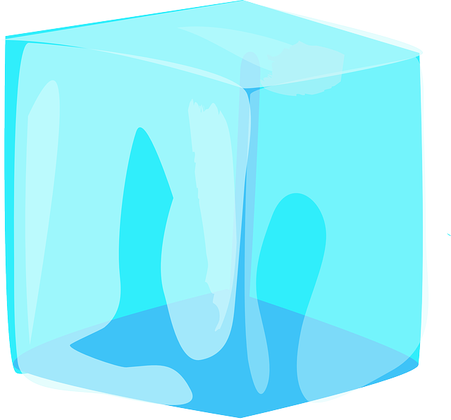 Ice, Cube, Blue, Water, Block, Frozen, Cold, Melting