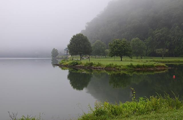 Melton Lake Park In The Fog, Melton Lake Park