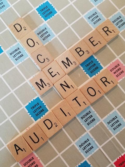 Scrabble, Docent, Member, Auditor