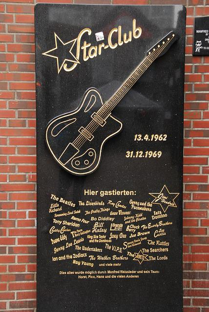 Beatles, Starclub, Hamburg, Memorial Plaque