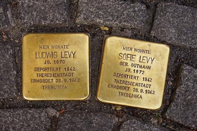 Stumbling Blocks, Memorial Tablets, Brass Plaque, Art