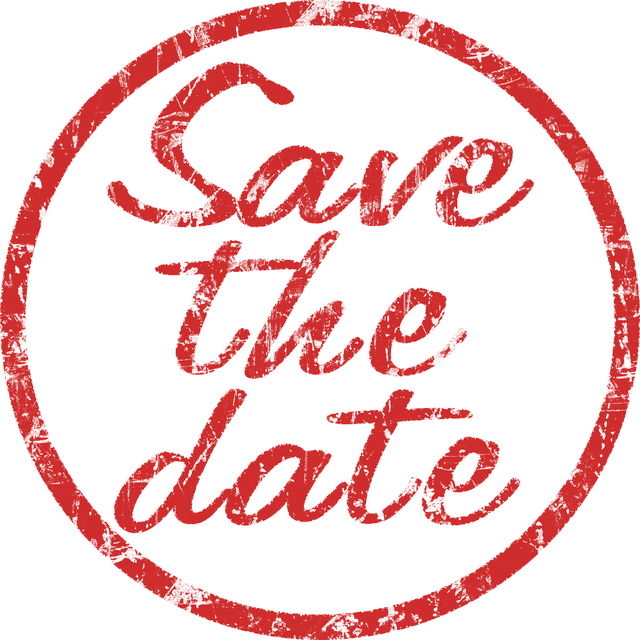 Stamp, Save The Date, Red, Memory, Communication