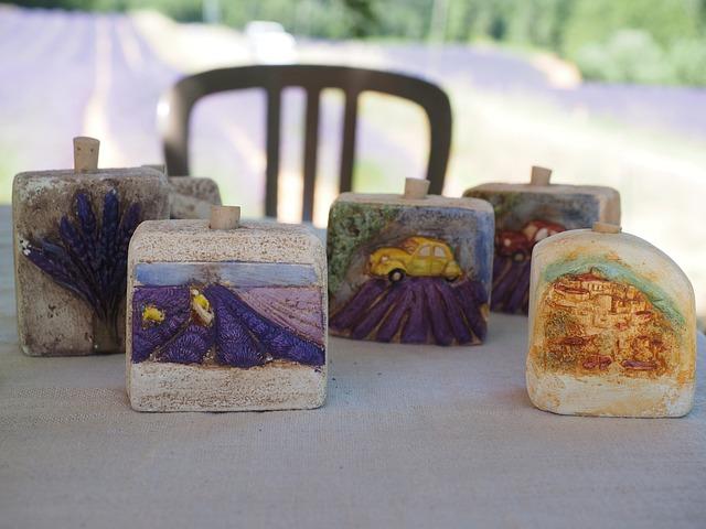 Lavender Field, Stone, Memory, Souvenir, Sale, Provence