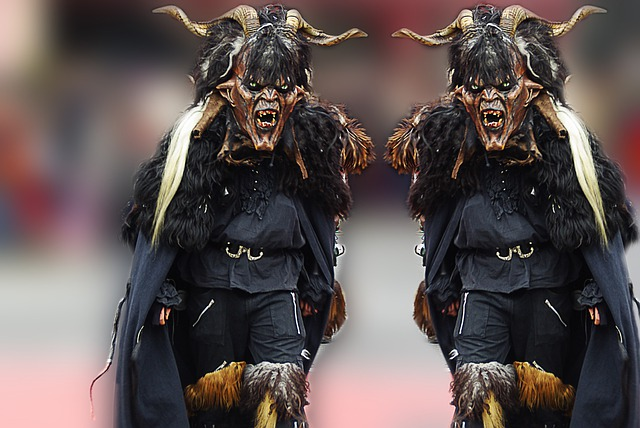 Carnival, Monster, Mask, Costume, Black, Men, Devil