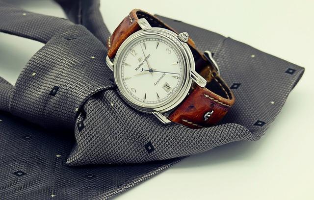 Wrist Watch, Clock, Tie, Mens, Man, Men's Accessory