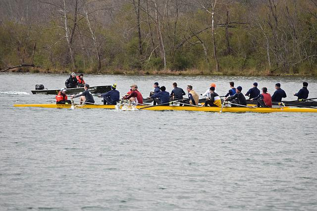 Scull Rowing, Clinch River, Tennessee, Sport, Mens