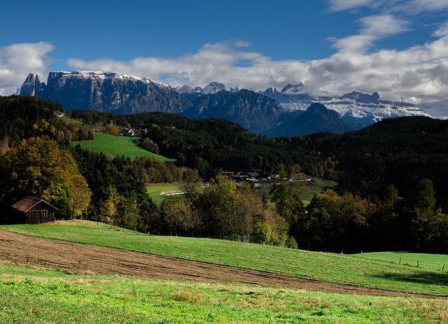 South Tyrol, Italy, Mountains, Dolomites, View, Meran