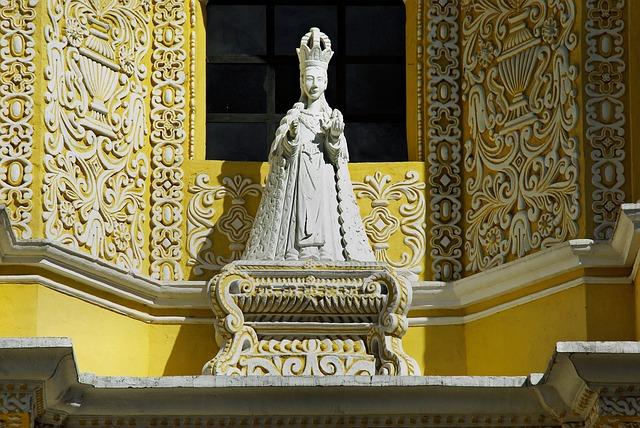 Guatemela, Antigua, Church, Merced, Statue, Religion