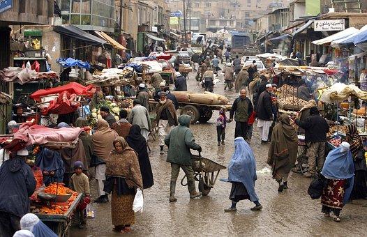 Afghanistan, Town, City, People, Merchants, Wares