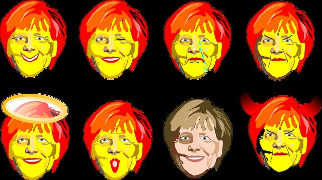 Merkel, Smiley, Politician