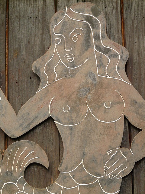 Mermaid, Mirror, Water Sprite, Beautiful, Breasts