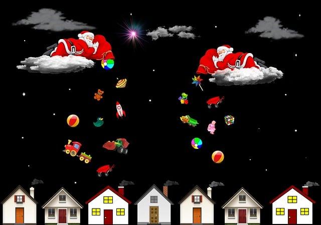 Christmas, Merry Christmas, Red, Santa Claus, Joy