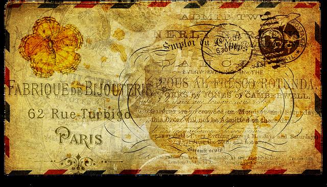Post, Letter, Antique, Old, Vintage, Envelope, Message