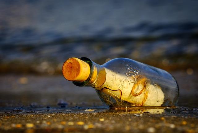 Message In A Bottle, Bottle, Sea, Message, Wreck