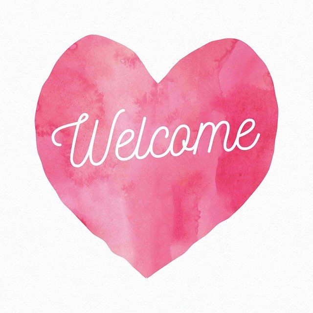 Welcome, Post, Heart, Signpost, Message, Welcome Sign