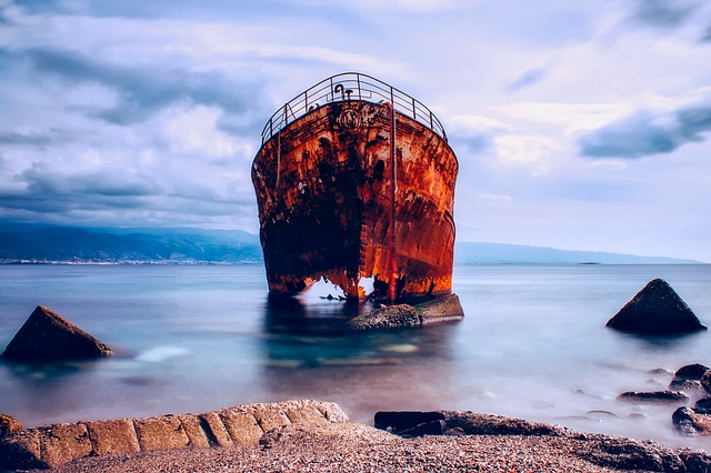 Messina, Italy, Ship, Sea, Ocean, Water, Sky, Clouds