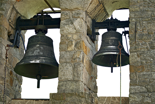 Bells, Bell, Bell Tower, Masonry, Metal, Ring
