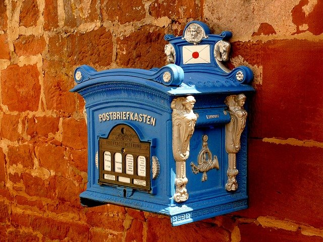 Mailbox, Letter Boxes, Blacksmithing, Blue, Metal, Old